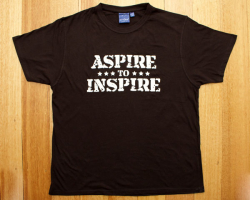 Black Aspire to Inspire t-shirt - front print