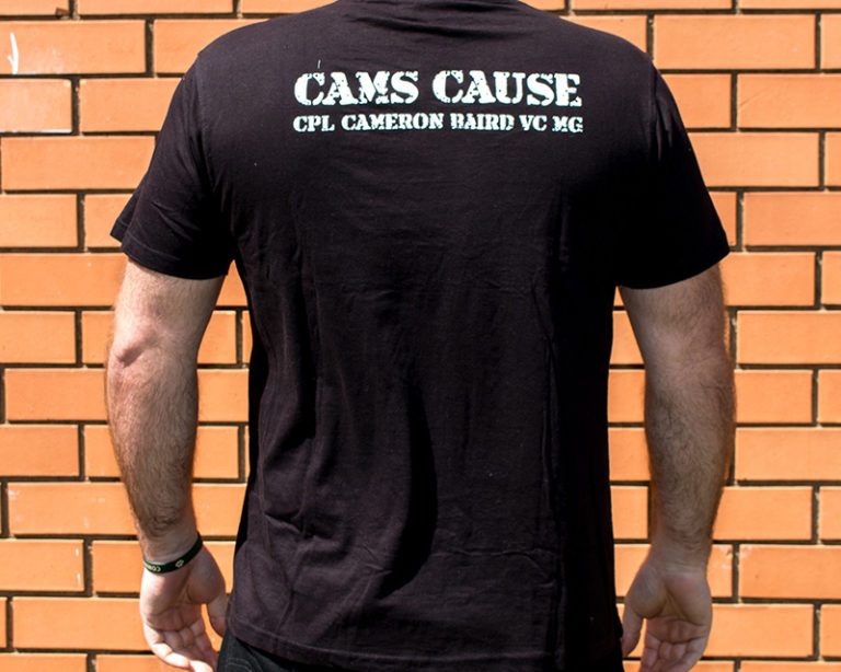 Cam's Cause black t-shirt