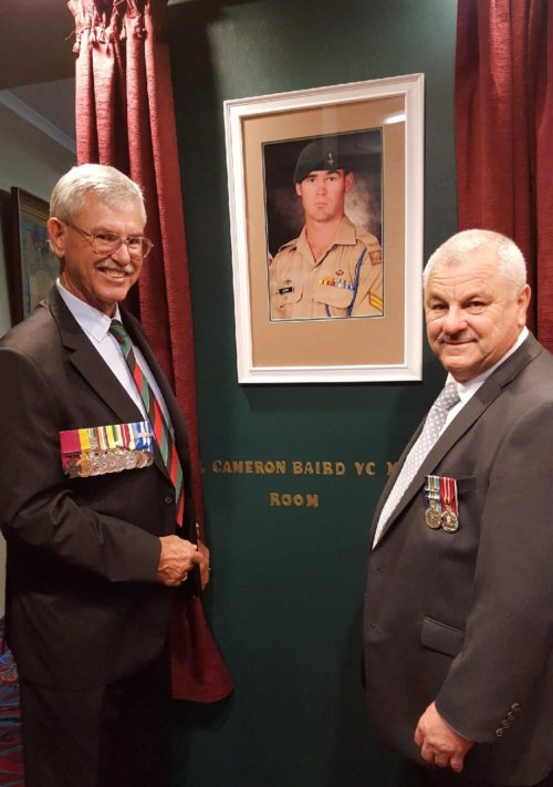 Unveiling of Cpl Cameron Baird VC MG Room