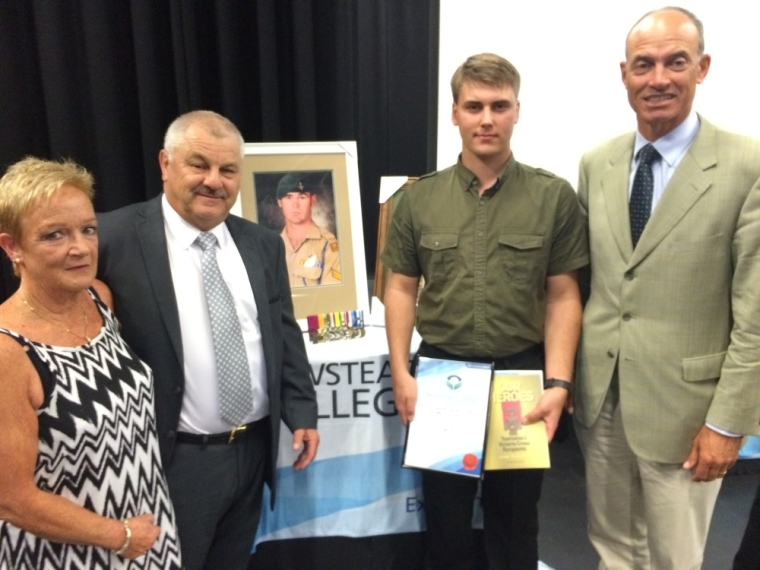 Presentation Ceremony for the Corporal Cameron Baird VC Scholarship