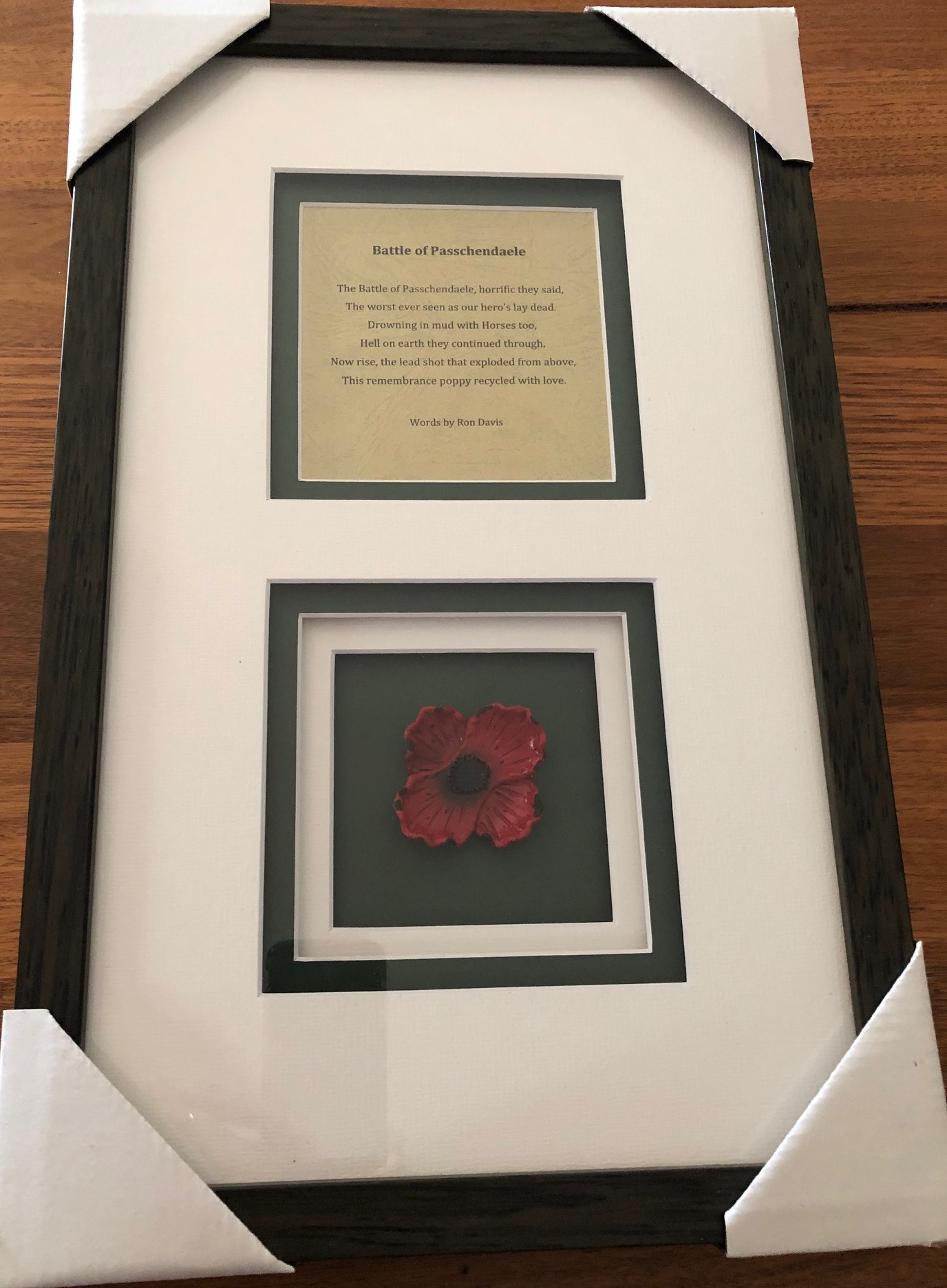 Cams Cause – Remembrance Poppy Made from Lead from Battlefields of Europe